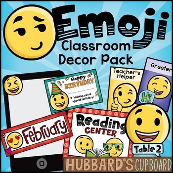 Emoji Classroom Decor Pack - Editable