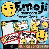 Emoji Classroom Decor Pack Editable - Emojis Classroom Theme - Classroom Bundle