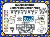 Emoji Classroom Decor Pack (Editable)