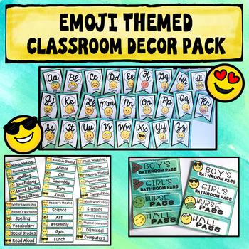 Editable Emoji Classroom Theme Worksheets & Teaching