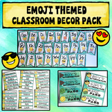 Classroom Decor Pack {Editable} Emoji Themed
