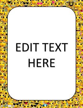 Emoji Classroom Decor Set - BUNDLE #1: EDITABLE