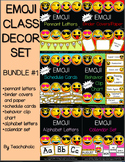 Emoji Classroom Decor Set - BUNDLE #1: EDITABLE
