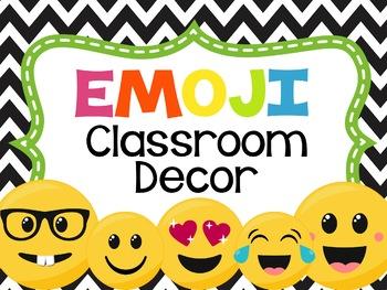 Emoji Classroom Decor Set *Editable*