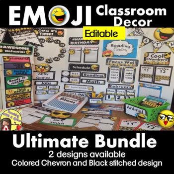 Emoji Classroom Decor Ultimate BUNDLE  30% OFF Back To School