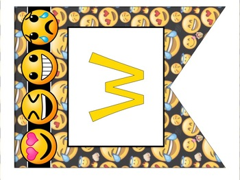 Emoji Classroom Decor Welcome Bunting Banner