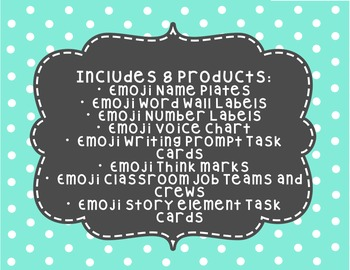 Emoji Classroom Decor and ELA Bundle