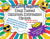 Emoji Classroom Flipbook- Editable & No Cutting Required!