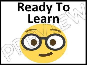 Emoji Classroom Management Behavior Clip Chart