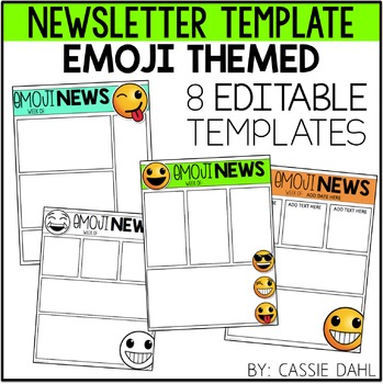 Emoji Classroom Newsletter