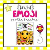 Emoji Classroom Poster/Sign {Bright & Editable}