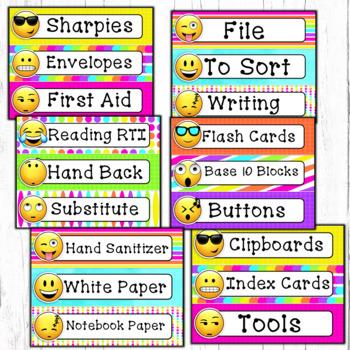 Emoji Classroom decor labels