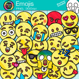 Emoji Clip Art   Emoticons and Smiley Faces for Task Cards and  Classroom Decor