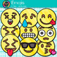 Emoji Clip Art {Emoticons and Smiley Faces for Brag Tags &