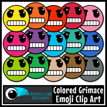 Grimace Emoji Clip Art