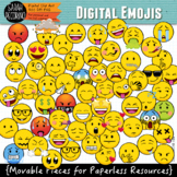 Emoji Clip Art: Movable Pieces for Paperless Resources