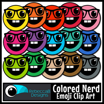 Nerd Emoji Clip Art