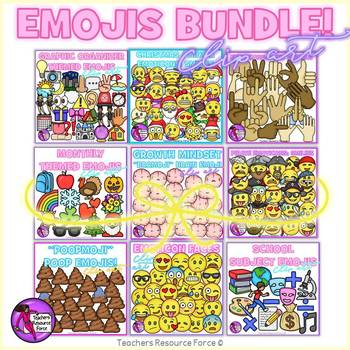 Emoji Clip Art: Big Bundle!