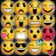 Emoji Clip Art Sticker Style: Emoji Faces, Emotion Clip Art