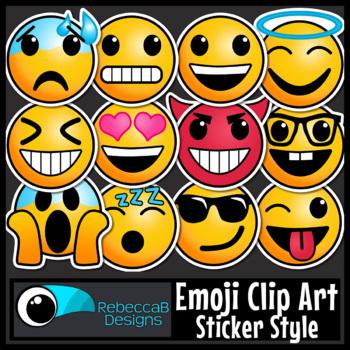 Emoji Clip Art Sticker Style