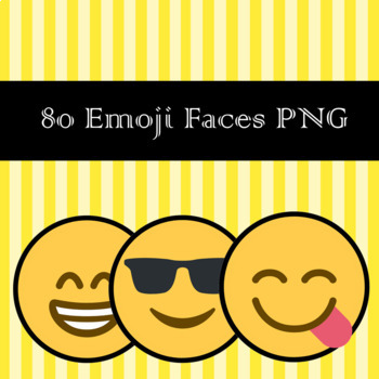 """Emoji Clipart """"80"""" Emoticons and Smiley Faces - Back To School"""