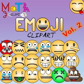 Emoji Clipart (Emoticons Smileys Faces) Bundle