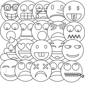 Emoji Clipart (Emoticons Smileys Faces) vol 2