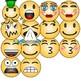 Emoji Clipart (Emoticons Smileys Faces) vol 3