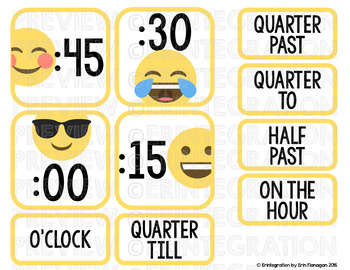 Emoji Clock Display Classroom Decor