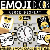 Emoji Clock Display Classroom Decor
