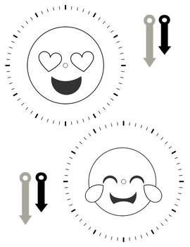 Telling Time Emoji Clocks - A DIY Hands-On Clock