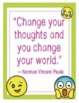 "Emoji Cognitive Behavioral Therapy CBT Posters -8.5""x11"", 18""x24""-Ready to Print"