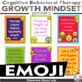 """Emoji Growth Mindset Cognitive Behavioral Therapy CBT Posters -8.5""""x11"""", 18""""x24"""""""
