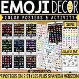 Emoji Color Posters - English & Spanish
