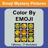 Emoji: Color by Emoji - Mystery Pictures