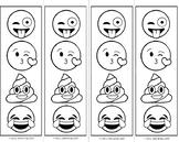 Emoji Coloring Bookmarks