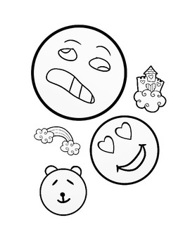 Emoji Coloring Pages