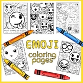 Emoji Coloring Pages with Growth Mindset Sayings