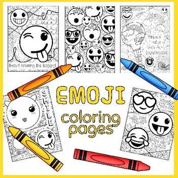 Emoji Coloring Page Worksheets Teaching Resources Tpt