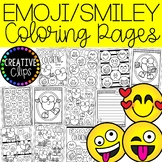 Emoji Coloring Pages (+writing papers) (Smiley Face Colori