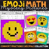 Emoji Converting Fractions and Decimals Mystery Pictures