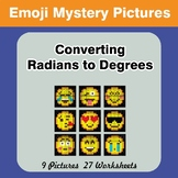 Emoji: Converting Radians To Degrees - Math Mystery Pictur