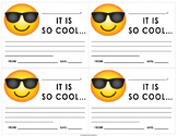 "Emoji ""Cool"" Motivation Note"