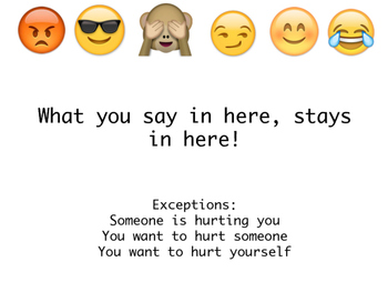 Emoji Counselor Confidentiality Sign