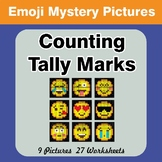 Emoji: Counting Tally Marks - Math Mystery Pictures / Colo