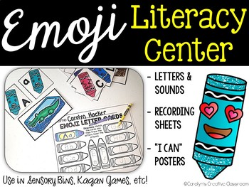 Emoji Crayons Literacy Center (Letter & Letter Sounds) - Back to School