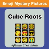 Emoji: Cube Roots - Math Mystery Pictures / Color By Number
