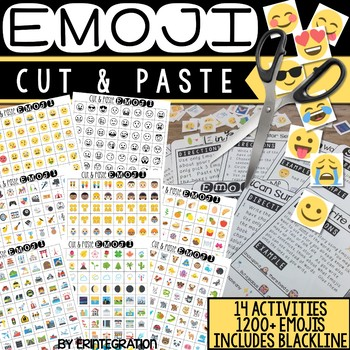 Emoji Cut and Paste Activities