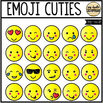Emoji Cuties (Clip Art for Personal & Commercial Use)