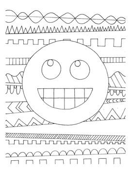 Emoji DESIGN Coloring Page
